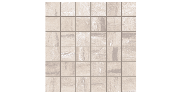 O'Tomi Porcelain Tile- Ivory 2 x 2 Mosaic- by Lint Tile