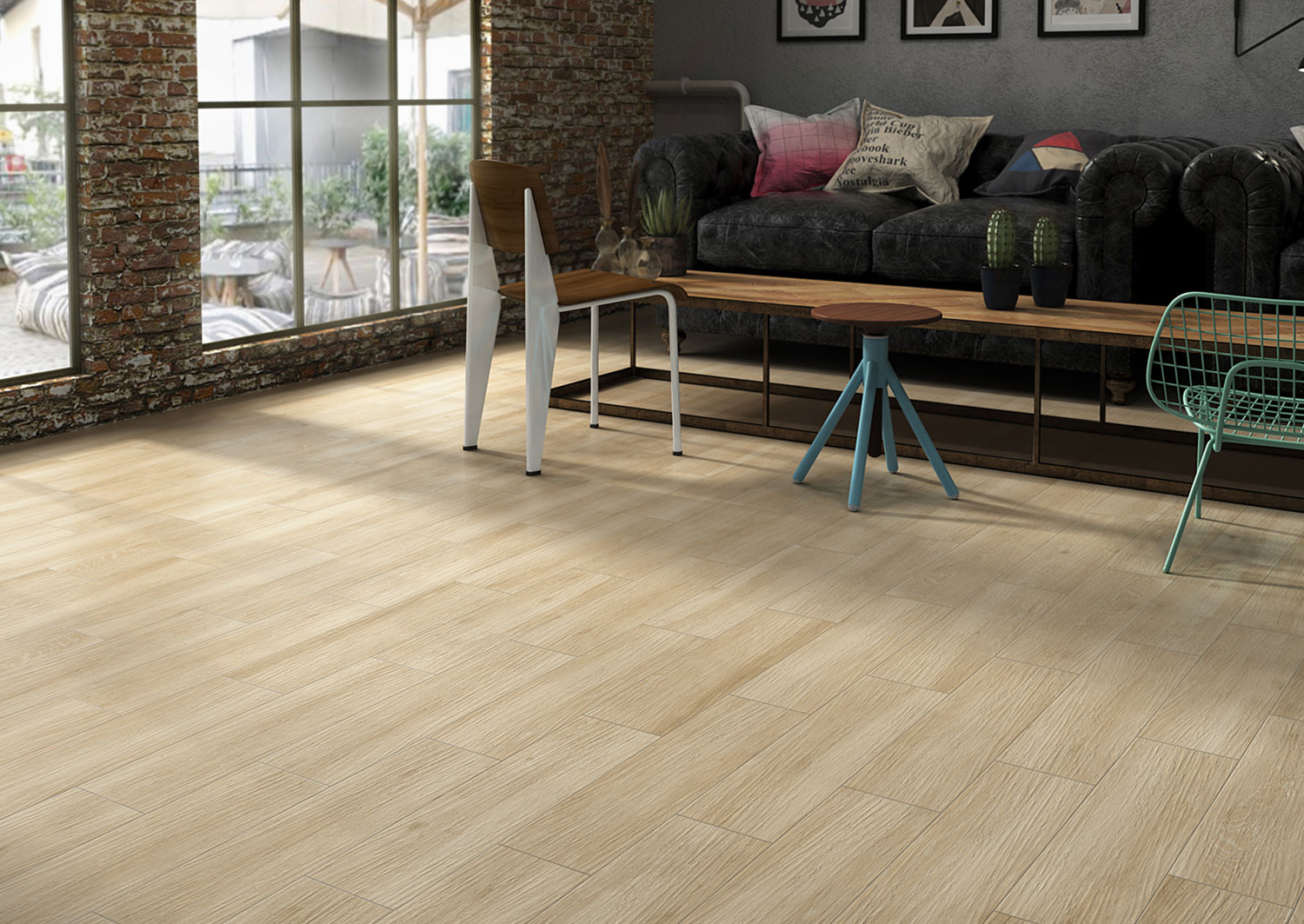 Pacano Porcelain Floor Tile- Beige sample- by Lint Tile