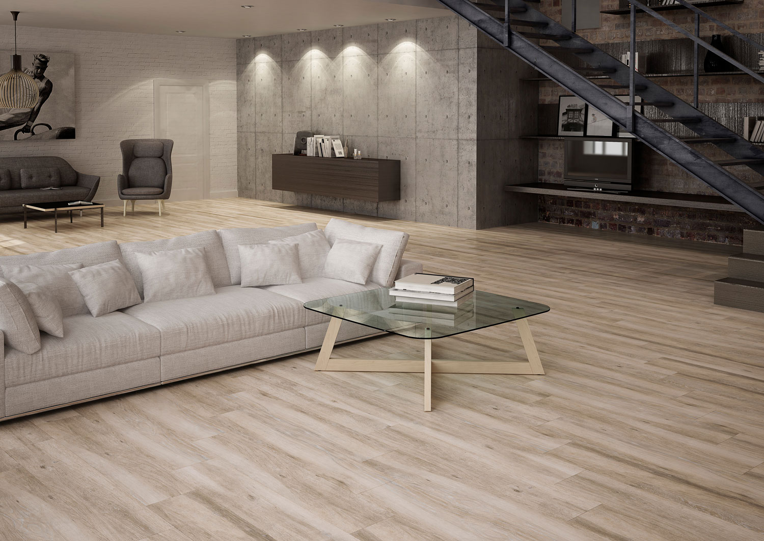 Pacano Porcelain Floor Tile- Taupe sample- by Lint Tile