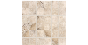 Scabos Porcelain-Silver-2x2-Mosaic