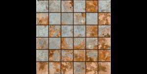 Slate (GM) Porcelain-Multicolor-2x2-Mosaic