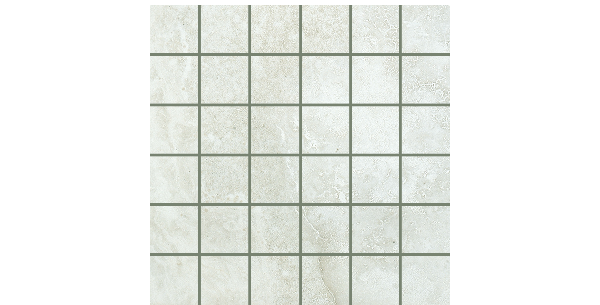 2x2 on 12x12 Marble Folio Frost Mosaics Porcelain