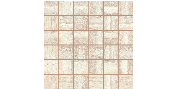 Travertino porcelain-2x2-mosaic-beige