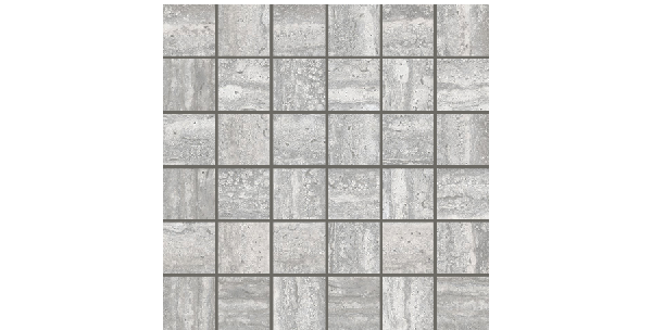 Travertino porcelain-2x2-mosaic-gray