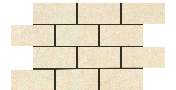 Mars Stone Porcelain from Lint Tile-3x6-mosaic-12x18-MARS-STONE-IVORY-MS02