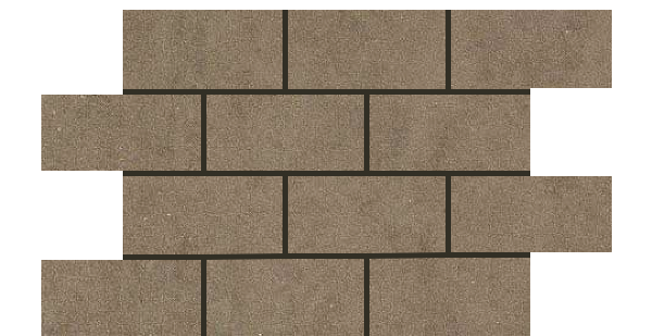 Mars Stone Porcelain from Lint Tile-3x6-mosaic-12x18-MARS-STONE-TOFFEE-MS04