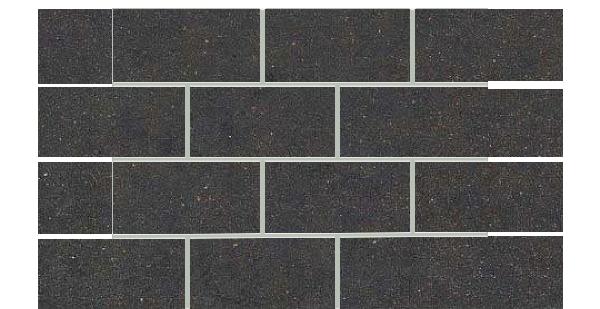 Mars Stone Porcelain from Lint Tile-3x6-mosaics-12x18-MARS-STONE-BLACK-MS06