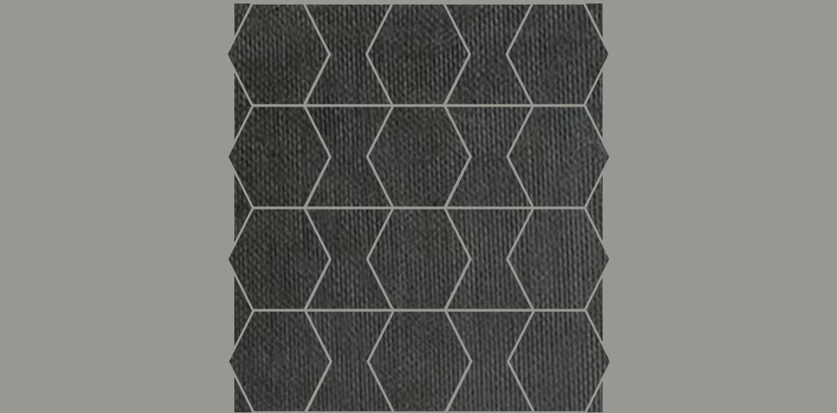 HEX-Mosaic-10-12x12Sheet-FabricFolio-Black-FB04