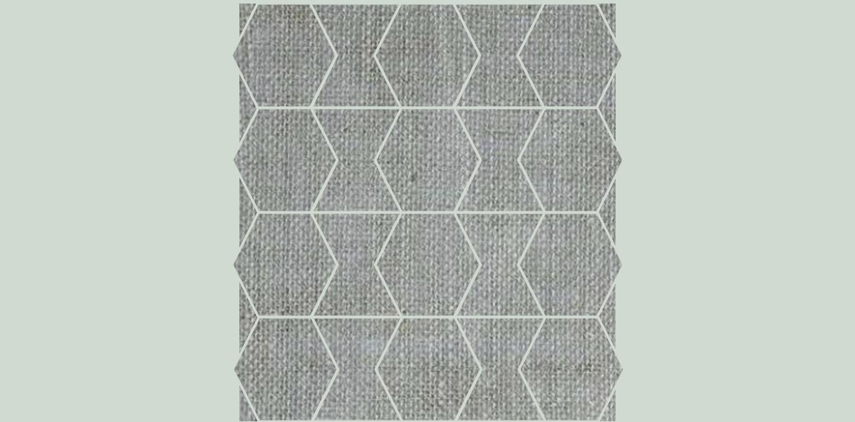 HEX-Mosaic-10-12x12Sheet-FabricFolio-Silver-FB02