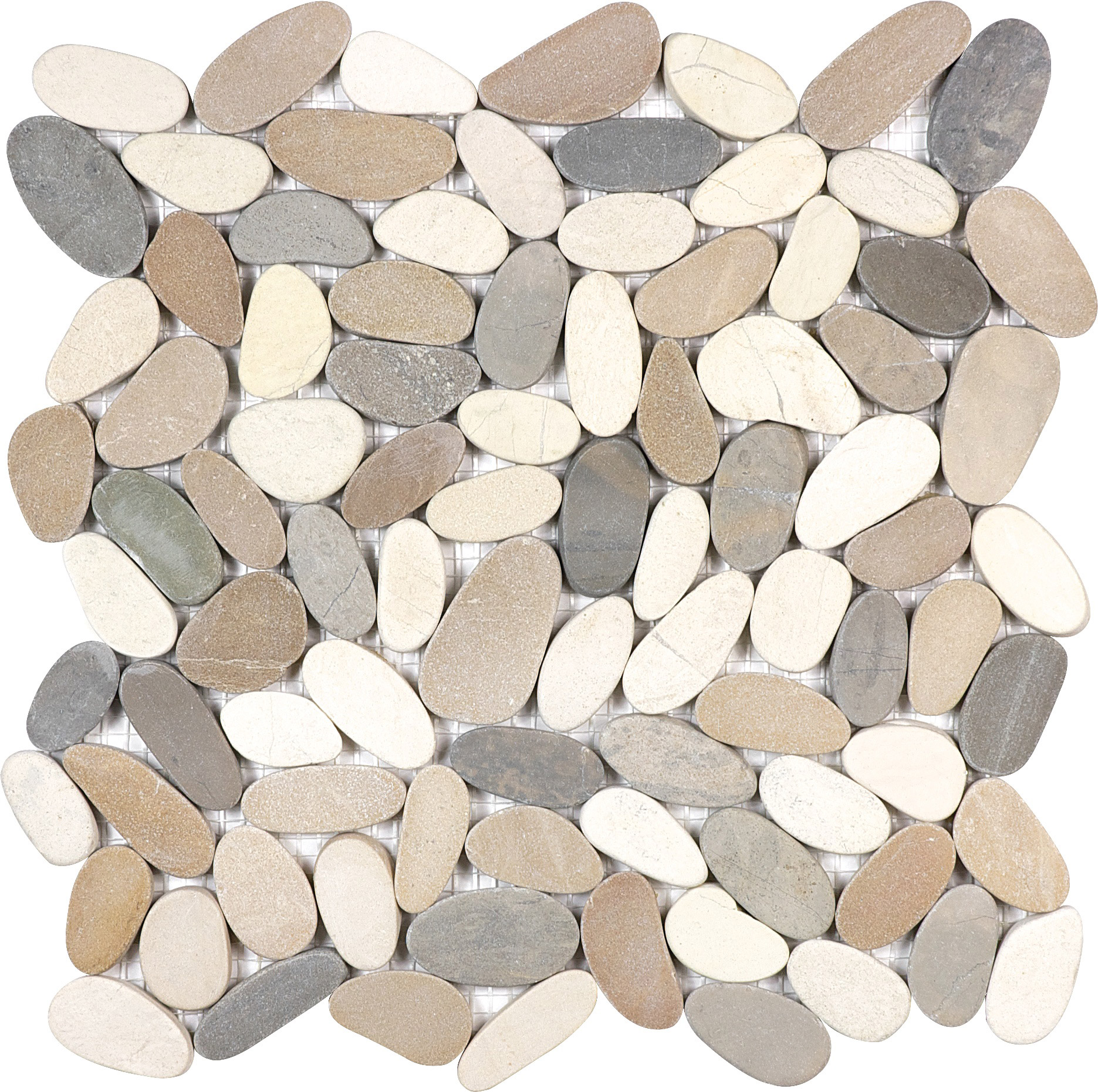 Harmony Warm Blend Flat Pebble Mosaics