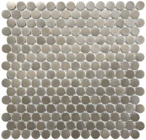 Satin Nickel Penny Round Mosaics
