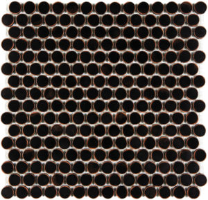 Satin Oil Rubbed Bronze Penny Round Mosaics