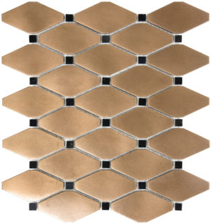 Bronze Clipped Diamond Mosaics