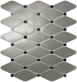 Pewter Clipped Diamond Mosaics