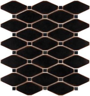 Venetian Bronze Clipped Diamond Mosaics