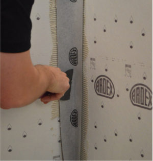 Ardex Seam Tape Inside and Outside