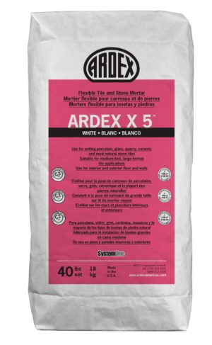 Ardex White Flexible Tile and Stone Mortar- X 5™