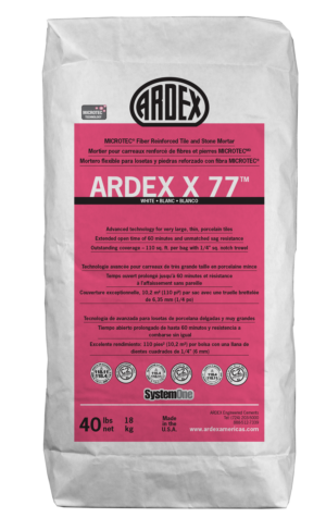 Ardex Microtec™ Fiber Reinforced Tile and Stone Mortar- X 77™