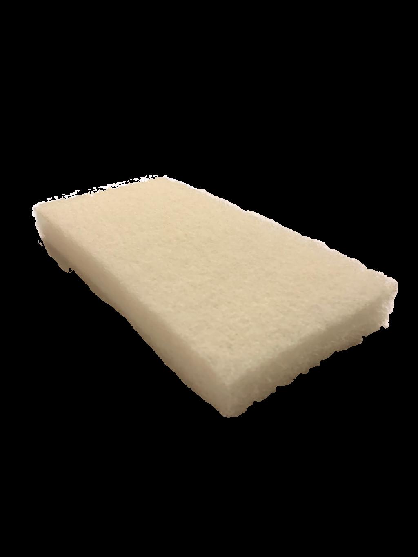 White Fine Scrubby Sponge - Lint Tile Tools