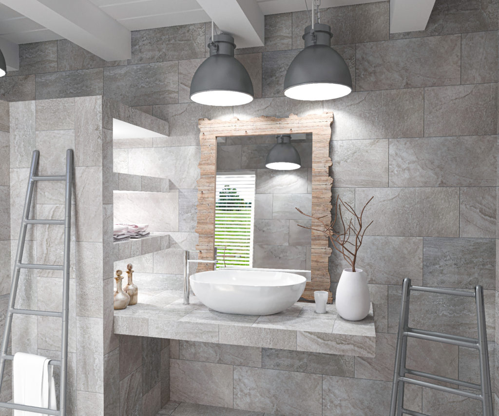 Lifestyles for Levian Grey 12x24 and 16x10 Porcelain and Ceramic Tiles
