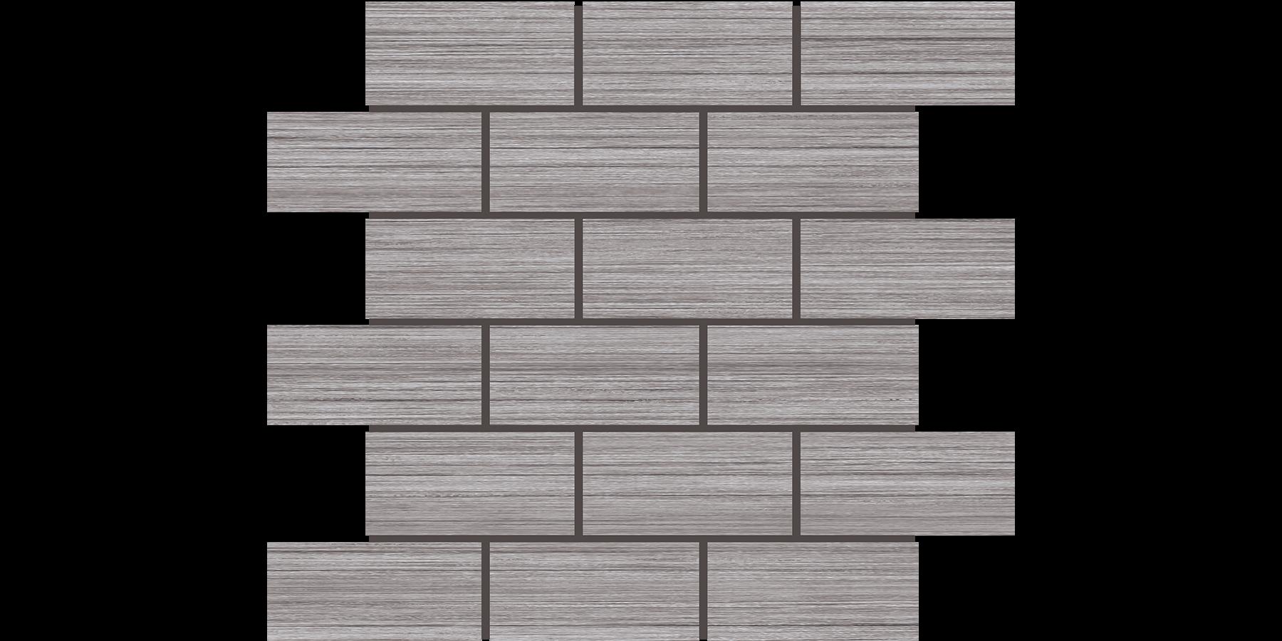 2x4 Brick Mosaics Springwood Grey
