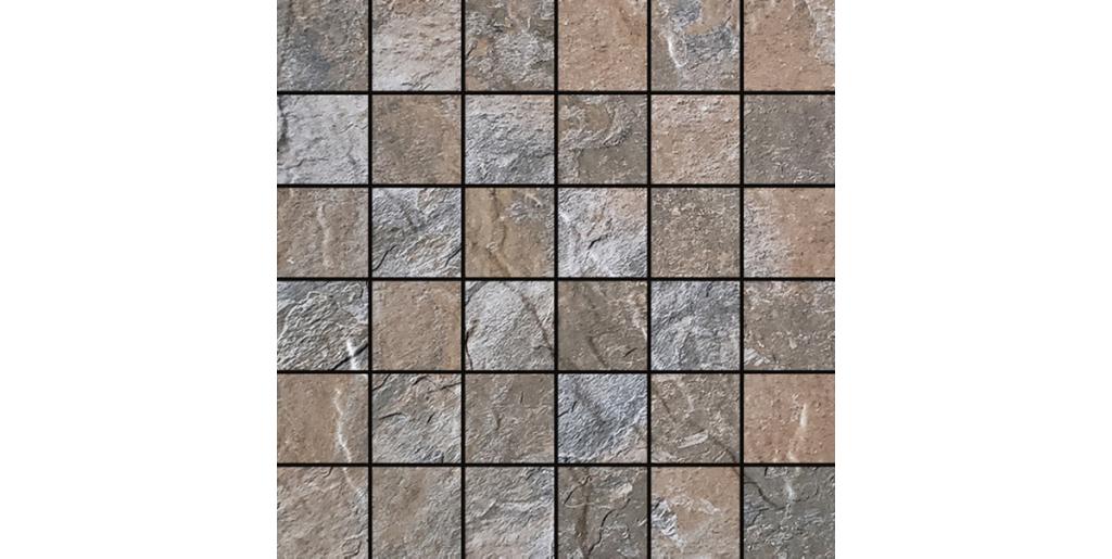 2x2 Boulder Pebble Porcelain Mosaics