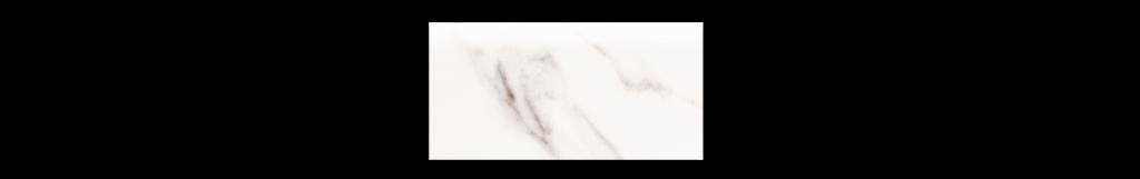 Calacatta White 3x6 Bullnose Porcelain for Floor or Wall