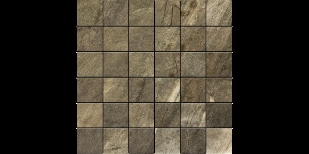 Canyon Grey 2x2 on 12x12 Porcelain Mosaic Tile