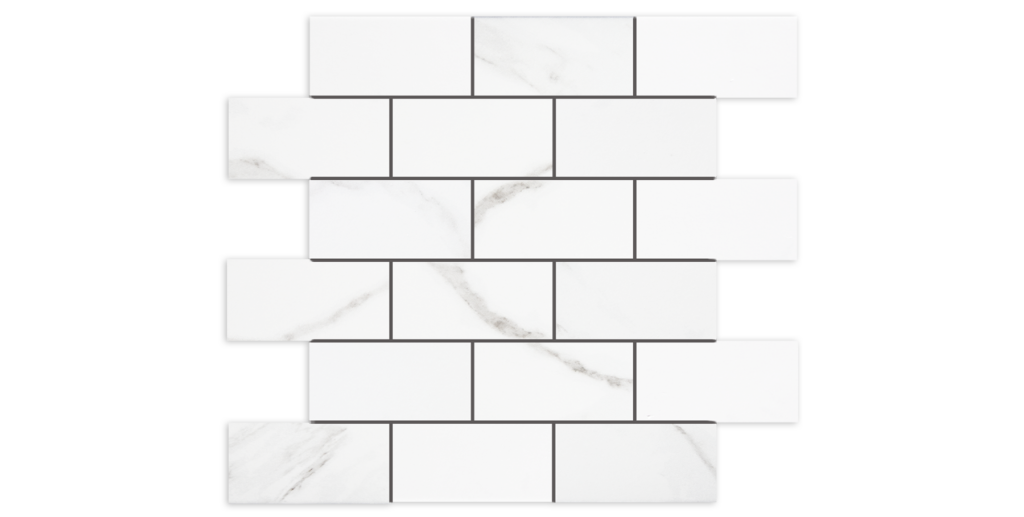 Naos 2x4 Brick Mosaic on 12x14 Tile