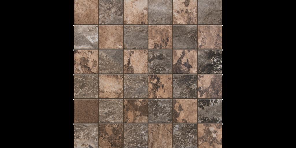 States Nut 2x2 Porcelain Mosaic Tile