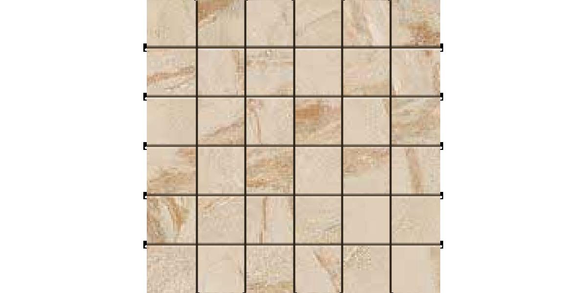 AEGEAN STONE LIGHT BROWN 2x2 Mosaics Porcelain
