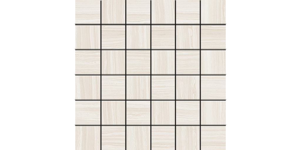 Lea Stone White Porcelain 2x2 Mosaics