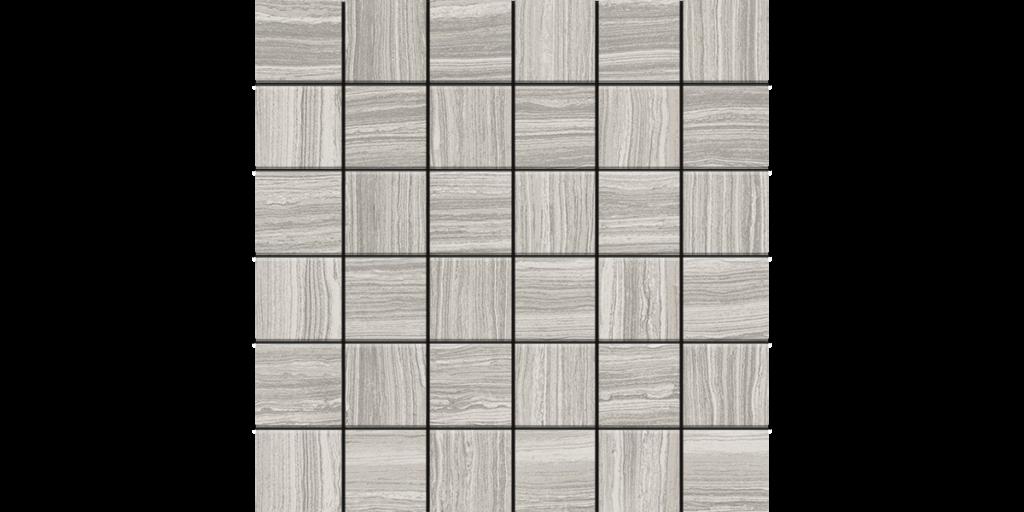 Lea Stone Silver Porcelain 2x2 Mosaics