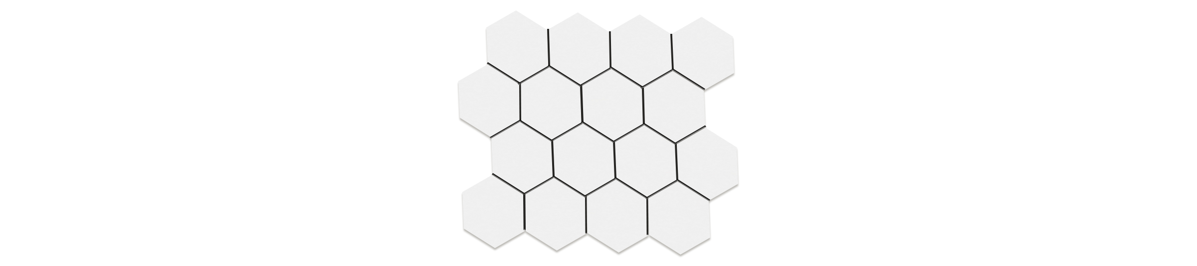 Polar Style White 3x3 Hexagonal Mosaic 10.25 x11.75 Sheet Porcelain
