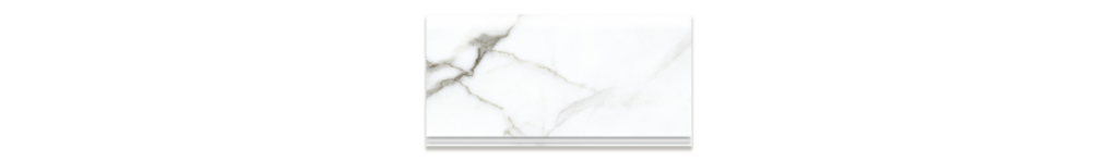 Preeminent White PR01 6x12 cove base matte porcelain tile