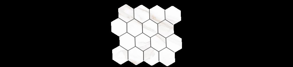 Sherron Oro 3x3 Hexagonal Mosaic 10.25x11.75 Sheet Porcelain
