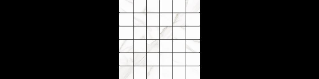 Sherron White 2x2 Mosaic matte porcelain tile