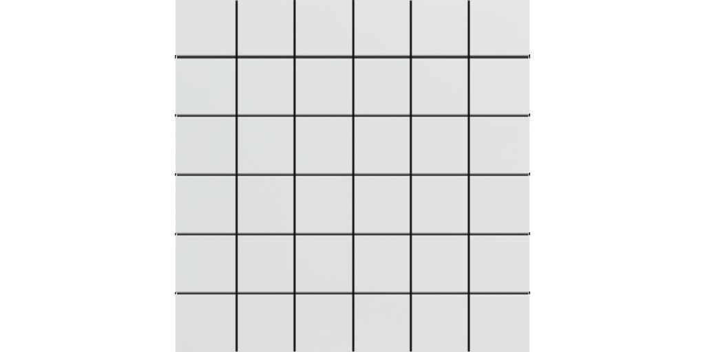 Ultra White Matte Porcelain Mosaics 2x2 on 12x12