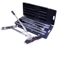 "JR Power Carpet Stretcher Kit. Features a 14 1/2"" wide aluminum pin plate with 59 adjustable nickel plated pins."