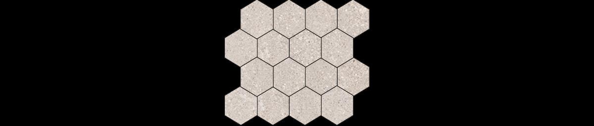 Mont Bianco Porcelain Beige 3x3 Hexagonal Mosaic Tile
