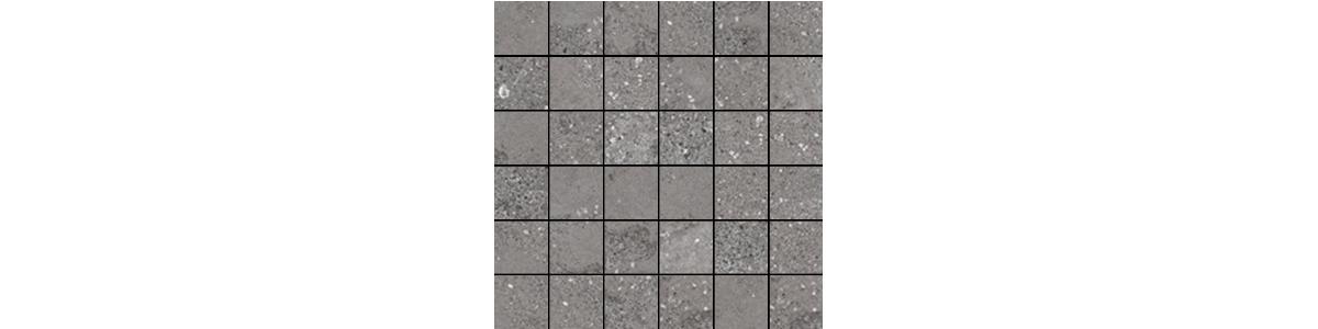 Mont Bianco Porcelain Dark Gray 2x2 Mosaic Tile