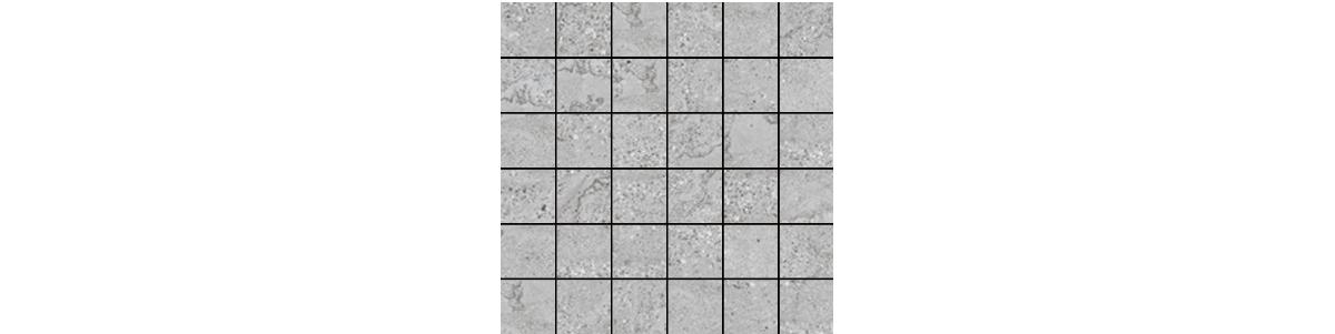 Mont Bianco Porcelain Gray 2x2 Mosaic Tile