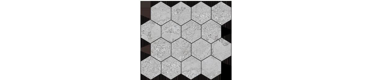 Mont Bianco Porcelain Gray 3x3 Hexagonal Mosaic Tile