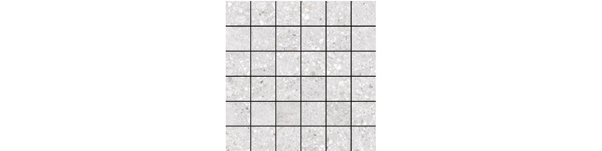 Mont Bianco Porcelain White 2x2 Mosaic Tile