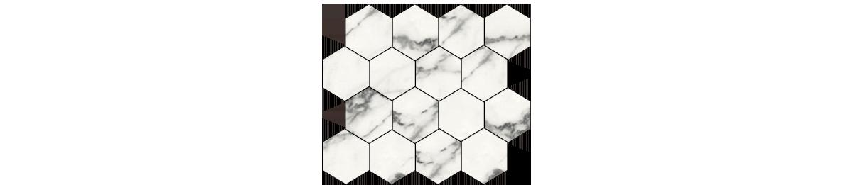 Earth Blanco Porcelain 3 x 3 Hexagonal Mosaic Tile