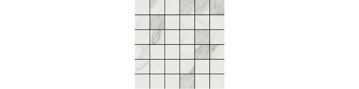Earth Calacatta Gold Porcelain 2 x 2 Mosaic Tile
